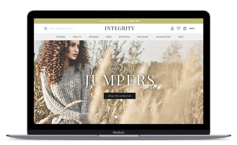 Integrity Commerce® Shopify with AAP® Technology Screenshot