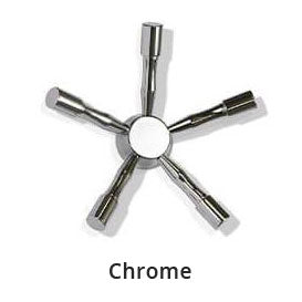 American Security AMSEC Hardware Color Chrome