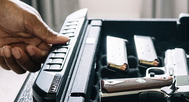 Biometric Lock Handgun Safes