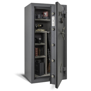 AMSEC NF6032 Gun Safe - Open Bolts Filled Shelves