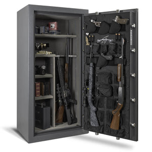 AMSEC NF6032 Gun Safe - Open Shelves Door Panel Organizer Filled