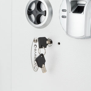 Barska Biometric Wall Safe White AX13030 - Dean Safe