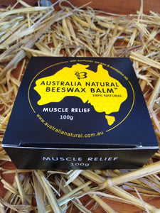 Australia Natural Beeswax Balm Muscle & Joint Relief With Sunflower Oil, Tea Tree Oil & Eucalyptus Oil 100g