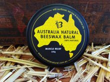 Load image into Gallery viewer, Australia Natural Beeswax Balm Muscle & Joint Relief With Sunflower Oil, Tea Tree Oil & Eucalyptus Oil 100g