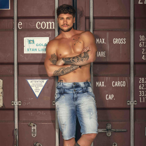 Mens Duo Waist Denim Shorts  28918