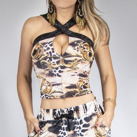 Women's Print Halter Top - 29217