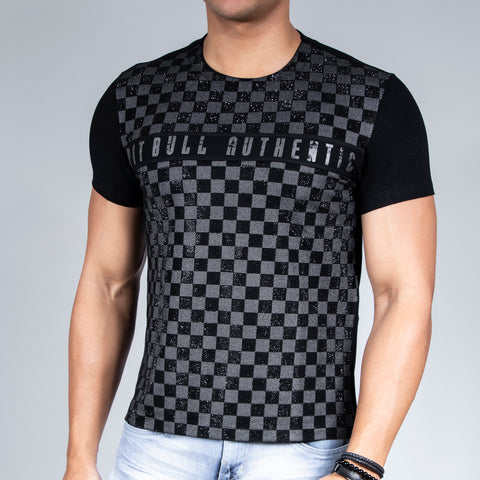 Men's Authentic Shiny Plaid T-Shirt, 29997