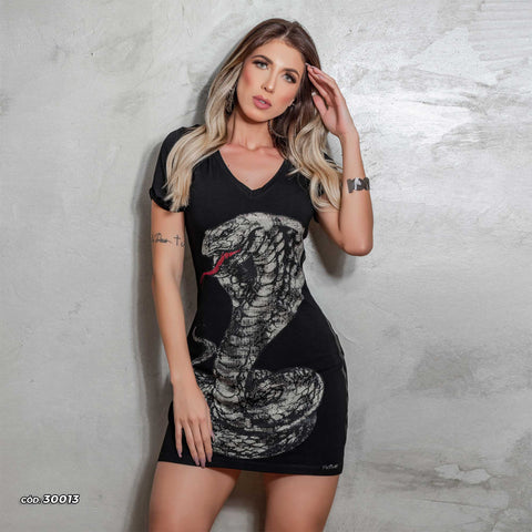 Womens Snake Print Mini Dress  30013