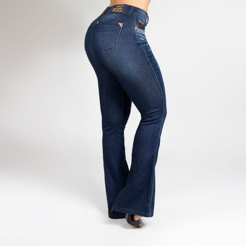 Women's High Rise Flare Jeans, 30150