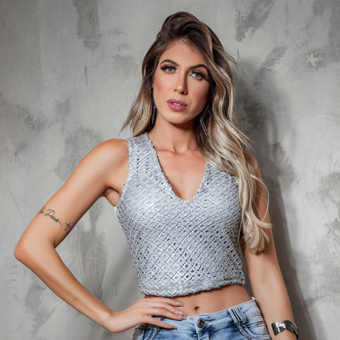 Women Sleeveless Cropped Top - 30973