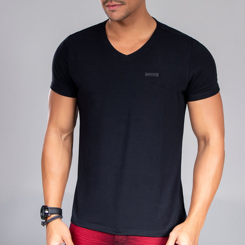 Men's Basic V-Neck Tee, 31517