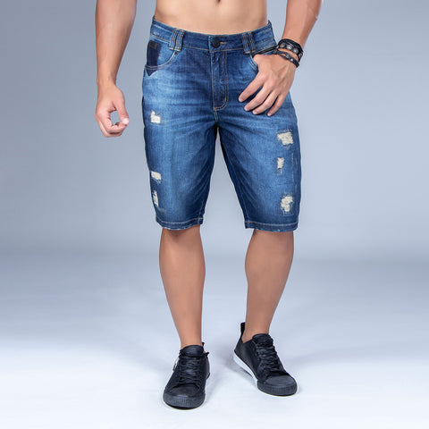Men's Denim Bermuda Shorts, 31560