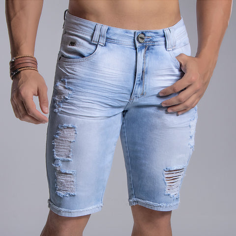 Men's Denim Bermuda Shorts, 31561