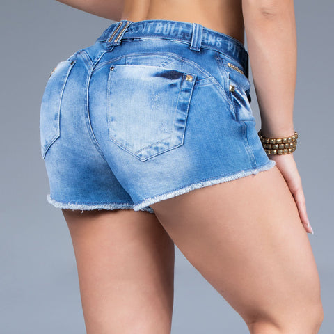 Women's Belted Denim Shorts, 31804