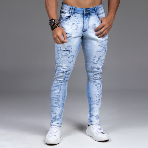 Men's Super Destroyed Slim Jeans, 32454