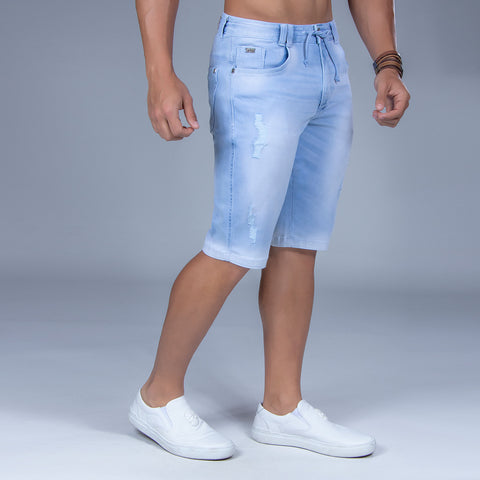 Men's Drawstring Denim Shorts, 32552