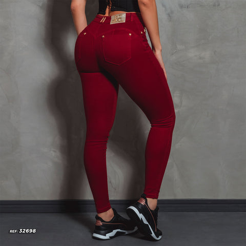 Women's Red Ever Skinny Jeans - 32698