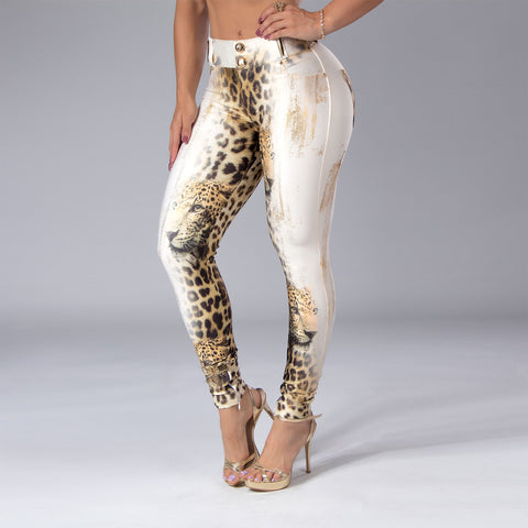Women's Animal Print Skinny Pants, 32859