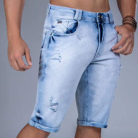 Men's Denim Bermuda Shorts, 32899