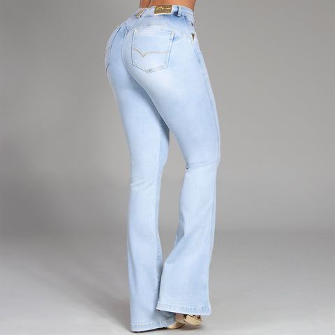 Women's Light Wash Flare Jeans, 33148