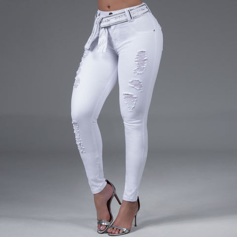 Women Collor Skinny Jeans - 33211