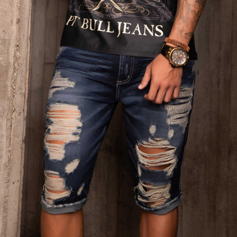 Men's Destroyed Shorts - 33263