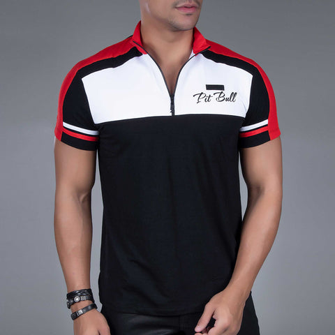 Men's Zip Collart Sports Polo, 33770