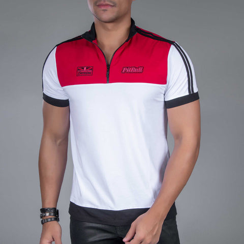 Men's Zip Collar Sports Polo, 33834
