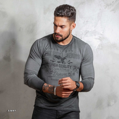 Men Long Sleeve T-Shirt - 33897
