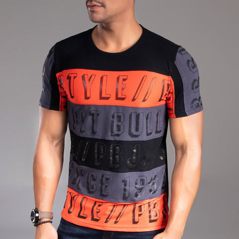 Men's Logomania Wide Stripes Tee, 34012