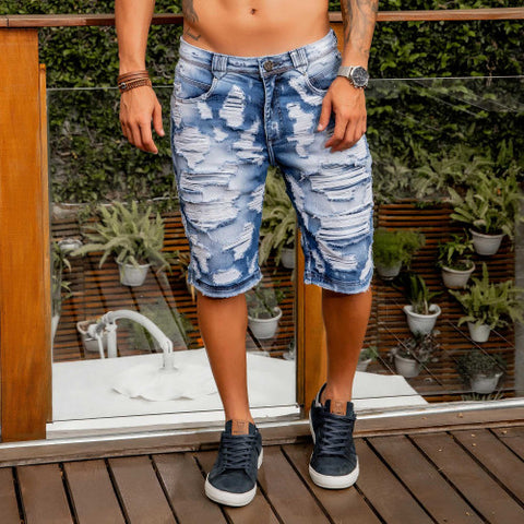 Men's Super Destroyed Shorts - 34021
