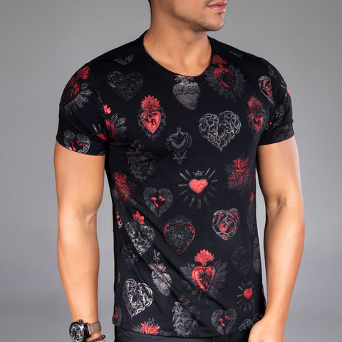 Men's Old School Hearts Tee, 34231
