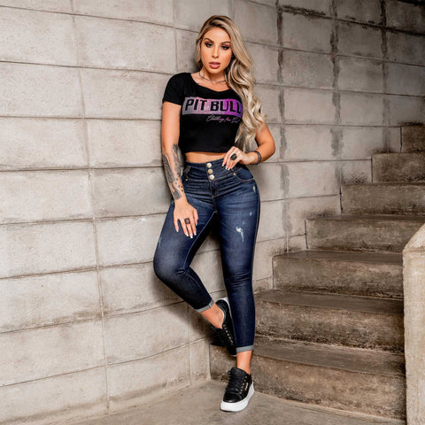 WOMEN SKINNY CROP JEANS  -  34285