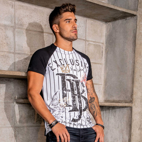 Men's PBJ Striped Raglan Tee - 34406