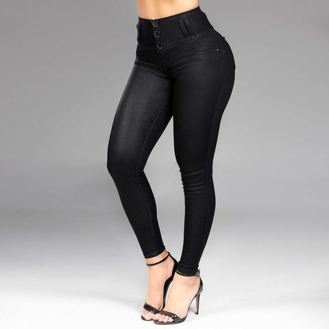Women's Urban Full Black Skinny Jeans - 34647