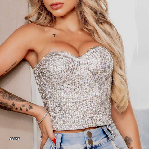 Women Sleeveless Cropped Top - 34775