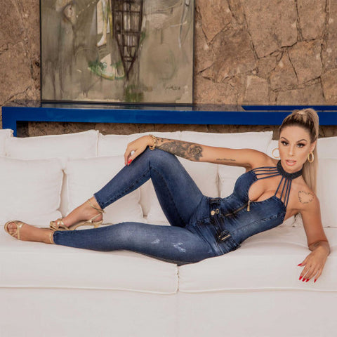 Women Denim Jumpsuit  34930