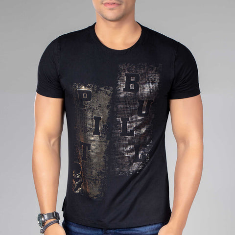 Mens Metallic Logomania Tee  35276