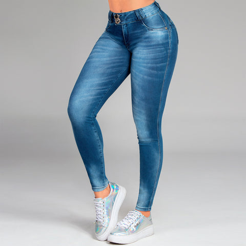 Women's Faded Wash Skinny Jeans - 35880