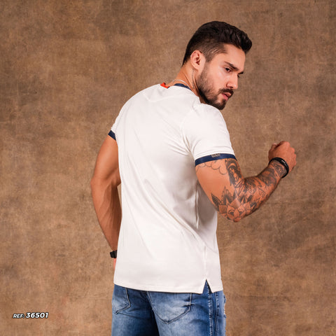 Men V-Neck Shirt - 36501