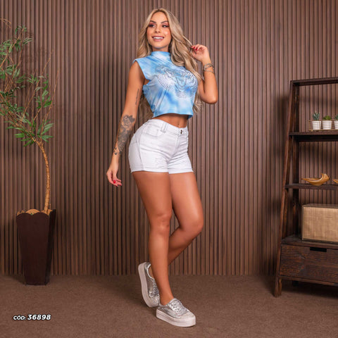 Women Denim Short - 36898