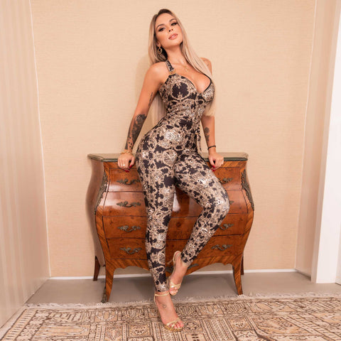 WOMEN HALTER JUMPSUIT - 37089