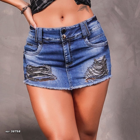 Women Denim Short Skirt - 38758