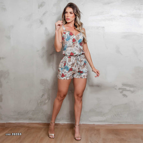 Women Short Sleeve Romper - 39355