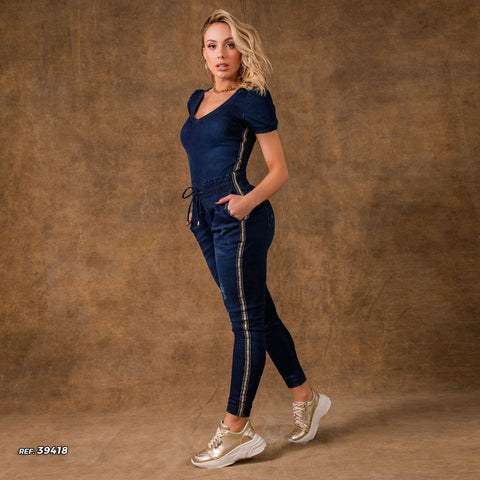 Women Denim Jumpsuit - 39418