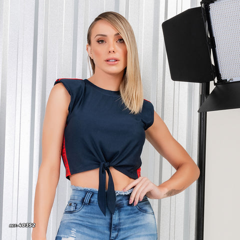 women sleeveless cropped top - 40352