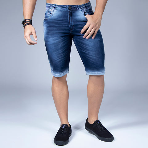 Men's Faded Wash Denim Shorts, 33009