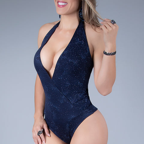 Women's Low-Cut Halter Bodysuit, 30407