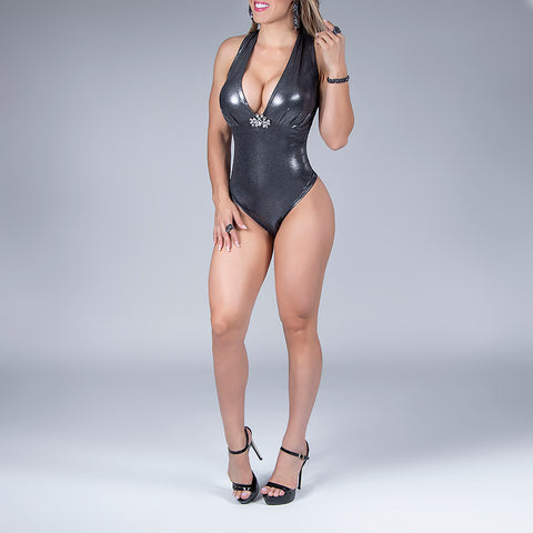 Women's Vinyl Bodysuit - 31689