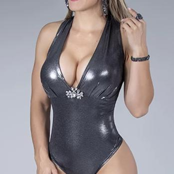 Womens Vinyl Bodysuit  31689